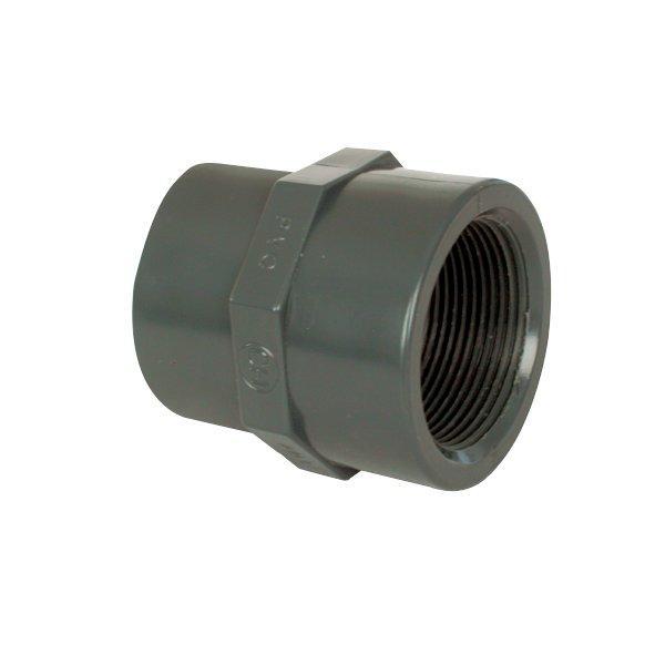 """PVC tvarovka - Mufna přechod. red. 20--16 x 3/8"""" int."""