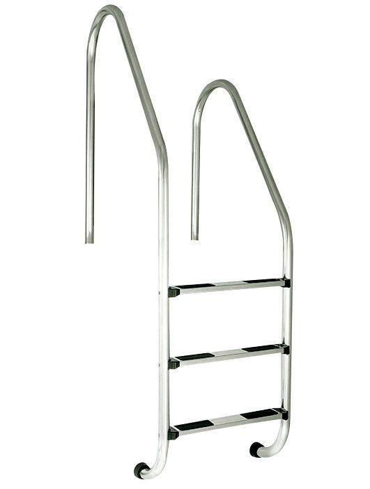 Žebřík nerez RVM–3 stup. s rozdílnou výškou madel (Standard),AISI 304