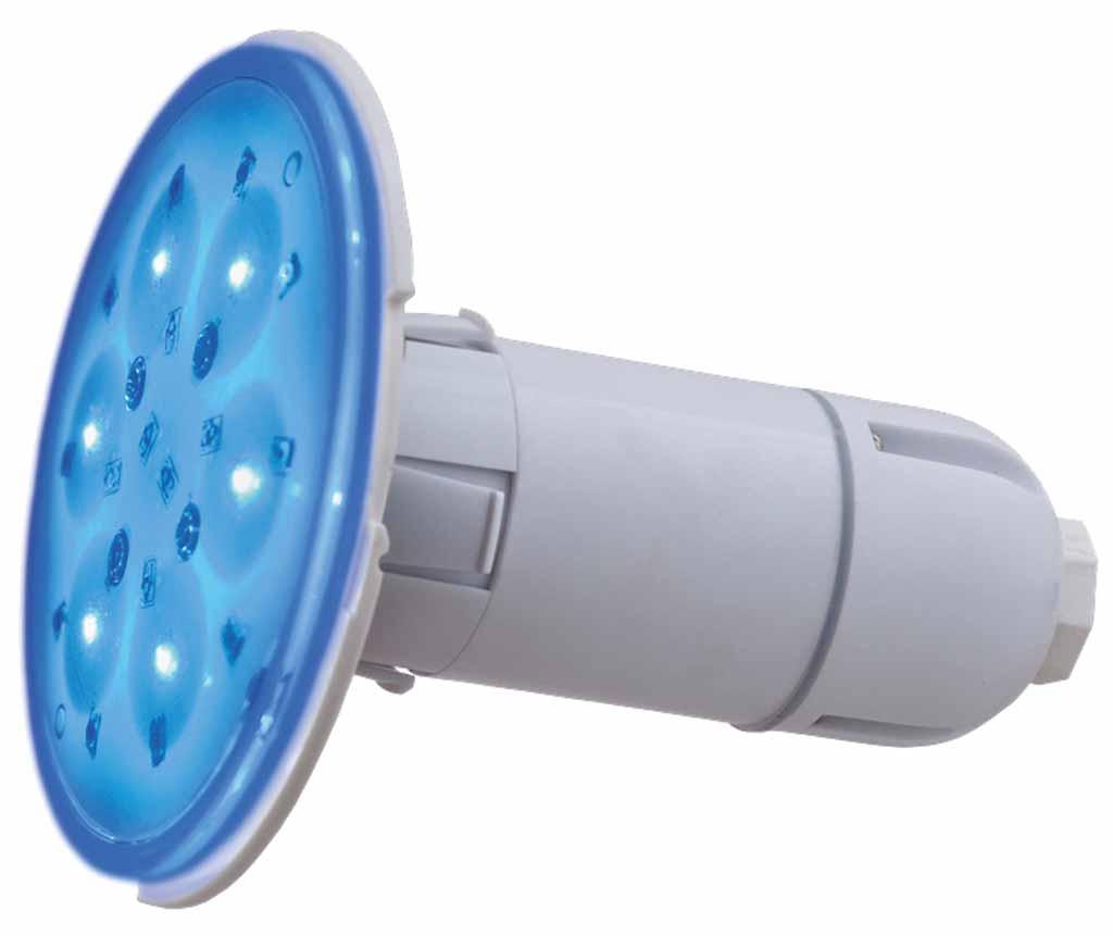 LED RGB barevné světlo Adagio 55 W, svítivost 2500 lm, 10 cm