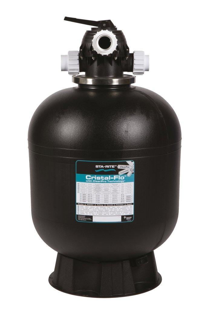 Filtrační nádoba Cristal Flo 380 -- 6-ti cest, top-ventil, d= 405 mm, 6 m3/h