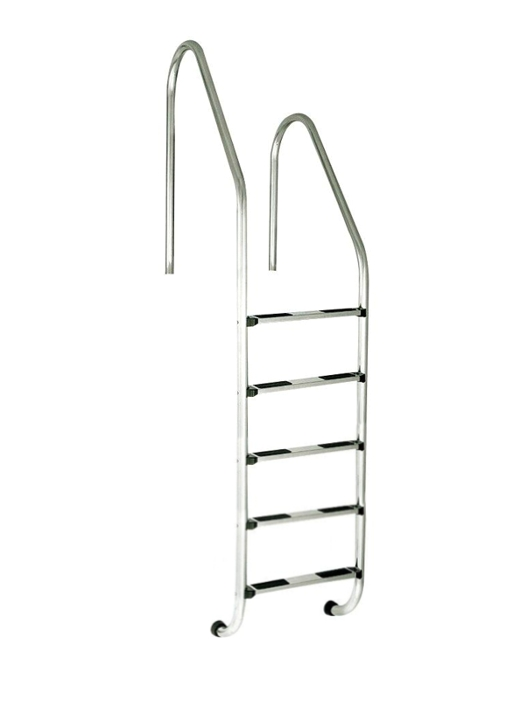 Žebřík nerez RVM–5 stup. s rozdílnou výškou madel (Standard),AISI 304