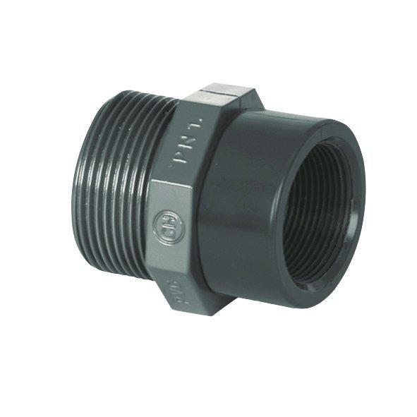 "PVC tvarovka - Redukce 11/2"" ext. x 3/4"" int."